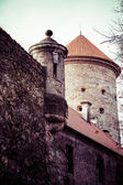View of Pieskowa Skala Castle and garden, medieval building near Krakow, Poland — Stock Photo