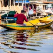 Shikara boat in Dal lake , Kashmir India — Stock Photo #35187175