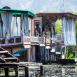 Houseboats, the floating luxury hotels in Dal Lake, Srinagar.India — Stock Photo