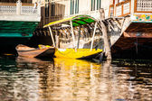 Shikara boat in Dal lake , Kashmir India — Stock Photo
