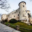 Niedzica Castle at Czorsztyn Lake in Poland — Stock Photo