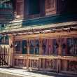 Traditional polish wooden hut from Zakopane, Poland. — Stock Photo #35664381