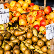 Fresh pears at a famers market in Poland — Stock Photo