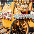 Traditional polish smoked cheese oscypek on outdoor market in Zakopane  — Stock Photo #35668807