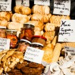 Traditional polish smoked cheese oscypek on outdoor market in Zakopane — Foto Stock #35669051