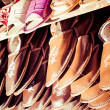 Traditional polish leather in local market in Zakopane. — Stock Photo #35669295