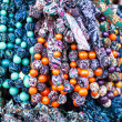 Colorful beads according to the art of contemporary mountaineers from Zakopane — Stock Photo #35669641