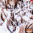 Carved cups, spoons, forks and other utensils of wood — Stockfoto #35669745