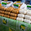 Traditional polish smoked cheese oscypek on outdoor market in Zakopane — ストック写真 #35669779