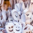 Stockfoto: Carved cups, spoons, forks and other utensils of wood
