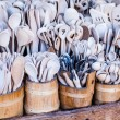Carved cups, spoons, forks and other utensils of wood — ストック写真 #35669885