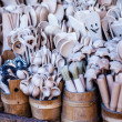 Carved cups, spoons, forks and other utensils of wood — ストック写真 #35669929