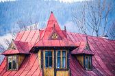 Traditional polish wooden hut from Zakopane, Poland. — Stock Photo