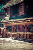 Traditional polish wooden hut from Zakopane, Poland. — Stock Photo
