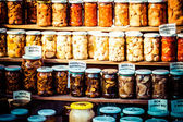Stand with tradtional wares in Zakopane, Poland — Stock Photo