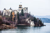Niedzica Castle at Czorsztyn Lake in Poland — Stock Photo