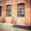 Traditional architecture in famous polish city, Torun, Poland. — Foto de Stock