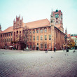 Stock Photo: Gothic tower of town hall in Torun-city on World Heritage List.
