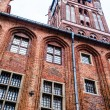 Gothic tower of town hall in Torun-city on The World Heritage List.  — Foto de Stock