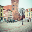 Stock Photo: Gothic parish church of St. Jacob, former Cisterci1309-1350r. Torun, Poland.