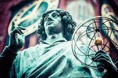 Monument of great astronomer Nicolaus Copernicus, Torun, Poland — Stock Photo