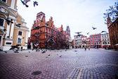 Traditional architecture in famous polish city, Torun, Poland. — Photo