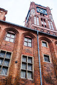 Gothic tower of town hall in Torun-city on The World Heritage List. — Stock Photo
