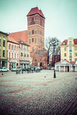 Gothic parish church of St. Jacob, the former Cistercian 1309-1350r. Torun, Poland. — Stock Photo
