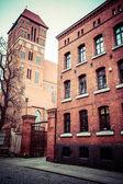 Gothic parish church of St. Jacob, the former Cistercian 1309-1350r. Torun, Poland. — Stock Photo