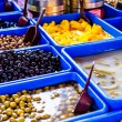 Assortment of olives on market,Tel Aviv,Israel — Stock Photo