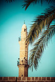 Sea mosque in the ancient Jaffa — Stock Photo