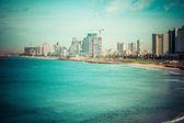 Tel-Aviv beach panorama.Jaffa. Israel. — Stock Photo