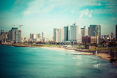 Tel-aviv-beach-panorama.jaffa. israel. — Stockfoto