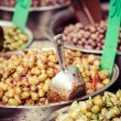 Stock Photo: Assortment of olives on market,Tel Aviv,Israel