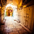 Ancient Alley in Jewish Quarter, Jerusalem, Israel. — Stock Photo