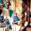 Stock Photo: Ceramic bells as souvenir from Jerusalem, Israel.