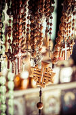 Crosses sold in Via Dolorosa street market, Jerusalem Old City, Israel. — Photo