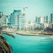 Stock Photo: Tel-Aviv beach panorama.Jaffa. Israel.