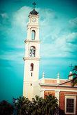 Kirche st.peter ist eine franziskanerkirche in jaffa, teil von tel aviv, israel. — Stockfoto