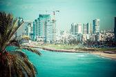 Tel-aviv strand panorama.jaffa. Israël. — Stockfoto