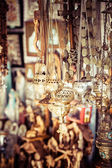 Shop with religion souvenir at the old city of Jerusalem — Stock Photo