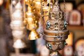 Butik med religion souvenir på gamla staden jerusalem — Stockfoto