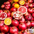 Pomegranates bunch at old town Jerusalem. Israel. — Stock Photo #36602057