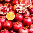 Pomegranates bunch at old town Jerusalem. Israel. — Stock Photo #36602117