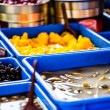 Stock Photo: Assortment of olives on local market,Tel Aviv,Israel