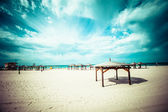 View of Tel-Aviv beach, Israel. — Stock Photo