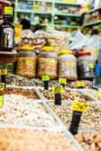 Dry fruits on the market in Jerusalem, Israel — Stock Photo