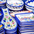 Stock Photo: Traditional ceramic in local Israel market.