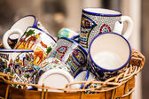 Traditional ceramic in local Israel market. — Foto Stock
