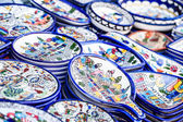 Traditional ceramic in local Israel market. — 图库照片